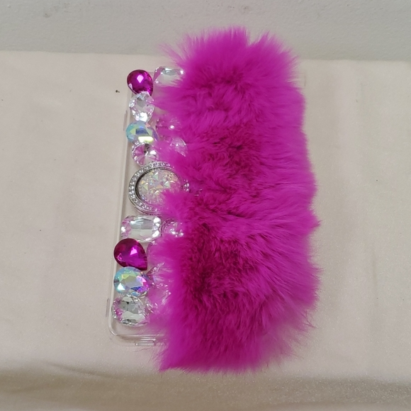 Samsung Galaxy S10 Case Fur and Jeweled